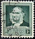 UNITED STATS OF AMERICA - CIRCA 1940: A stamp printed in USA shows John James Audubon circa 1940