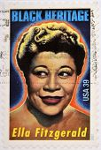 UNITED STATES OF AMERICA - CIRCA 2007: A stamp printed in USA shows Ella Fitzgerald black heritage