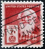 UNITED STATES OF AMERICA - CIRCA 1940: A stamp printed in USA shows Samuel Finley Breese Morse