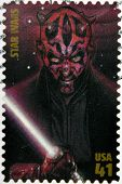 UNITED STATES OF AMERICA - CIRCA 2007: stamp printed in USA shows Star Wars Darth Maul circa 2007