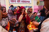 Hindu Female Devotees , Babughat, Kolkata