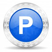 parking christmas icon