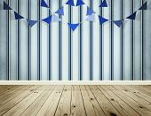 Light Blue Background With Pennants Festoon