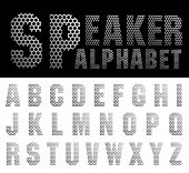 vector alphabet with perforated metal plate