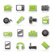 Media and technology icons