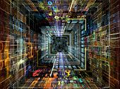 stock photo of fractals  - Number Tunnel series - JPG