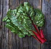Raw Organic Red Ruby Wwiss Chard