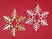 Pair Ornament Snowflake