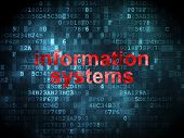 Information concept: Information Systems on digital background