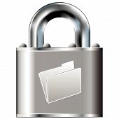 File Folder Icon On Vector Lock