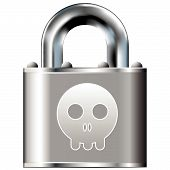 Skull Icon On Vector Lock