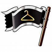 Coathanger Icon On Pirate Flag