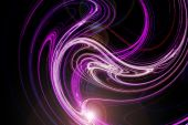 Trendy Abstract Design With Pink And Purple Light Waves