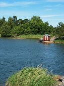 Red Shed Near Vaxholm