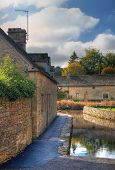 pic of slaughter  - The mill race at Lower Slaughter near Bourton on the Water - JPG
