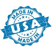 Made In Usa Blue Grunge Seal