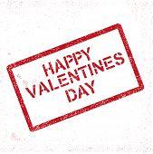 Grunge stam Valentines-Day greeting