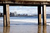 picture of beachfront  - view of Durban - JPG