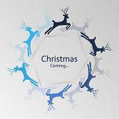 Christmas Coming - Christmas Greeting Card Concept
