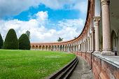 stock photo of ferrara  - The Monumental Graveyard Of Ferrara City in Italy - JPG