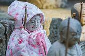 Small Jizo Statues at Hase-dera Temple in Kamakura