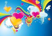 Funky styled valentine background