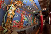 Chinese God Near Dragon Gate On Kunming City.