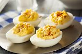 Постер, плакат: Healthy Deviled Eggs As An Appetizer