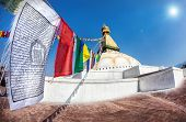Prayer Flags At Bodhnath Stupa