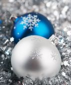 Photo Of Christmas Balls Over Silver Background