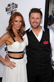 LOS ANGELES - MAY 15:  Challen Cates, Aaron McPherson at the