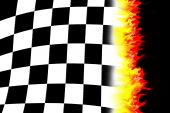 Burning Racing Flag