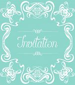 Flourishes Frame Invitation