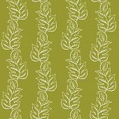 Duotone Pattern With Leaves