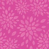 Abstract textile flowers pink seamless pattern background