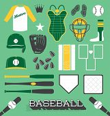 image of softball  - Collection of baseball and softball related icons and objects - JPG
