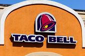 Taco Bell Restaurant Exterior.