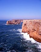 Coastline at Cape St Vincent, Portugal.