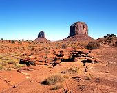 Desert landscape, Monument Valley.