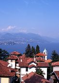 Town and Lake Maggiore, Stresa, Italy.