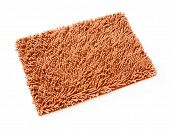 Brown Doormat On White Background
