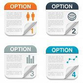 Option Backgrounds with Folding Paper Corner