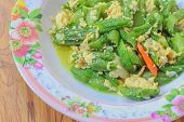 image of gourds  - Sponge Gourd fried with Egg ingredient  - JPG