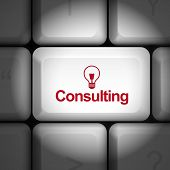 Consulting Concept With Computer Keyboard