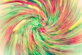 Colourful swirl