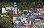 stock photo of banska  - Historic mining town Banska Stiavnica Slovakia UNESCO - JPG