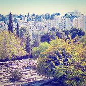 picture of funeral home  - Ancient Jewish Cemetery in Jerusalem Photo Filter - JPG
