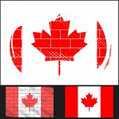 Scratched Flag Of Canada