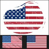 Shabby Flag Of USA