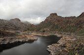 Soria Lake In Gran Canaria